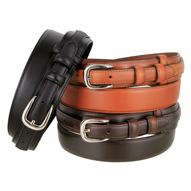 "Men's Genuine Leather Ranger Belt 1 and 3/8"" Wide"
