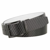 Nike Big Boy's Carbon Fiber Texture Reversible Belt - Black/White