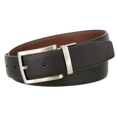 Nike Big Boy's Reversible Pebbled Leather Belt - Black/Brown