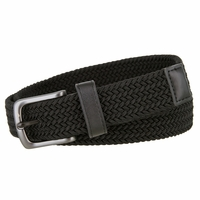 Nike Big Boy's Stretch Woven Belt - Black