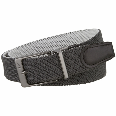 Nike Men's Reversible Stretch Woven Golf Belt - Dark Gray/White