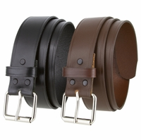 "Ohio's Men Leather Work Uniform Roller Buckle Belt 1-1/2"" Wide"