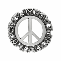 Peace Sign Belt Buckle