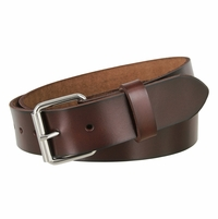 "Seris 100% Leather Cowhide Roller Belt 1.5"" Wide - Brown"