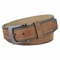 "Tennessee Men's Leather Belt With Gun Metal Buckle 1 1/2"" Wide"