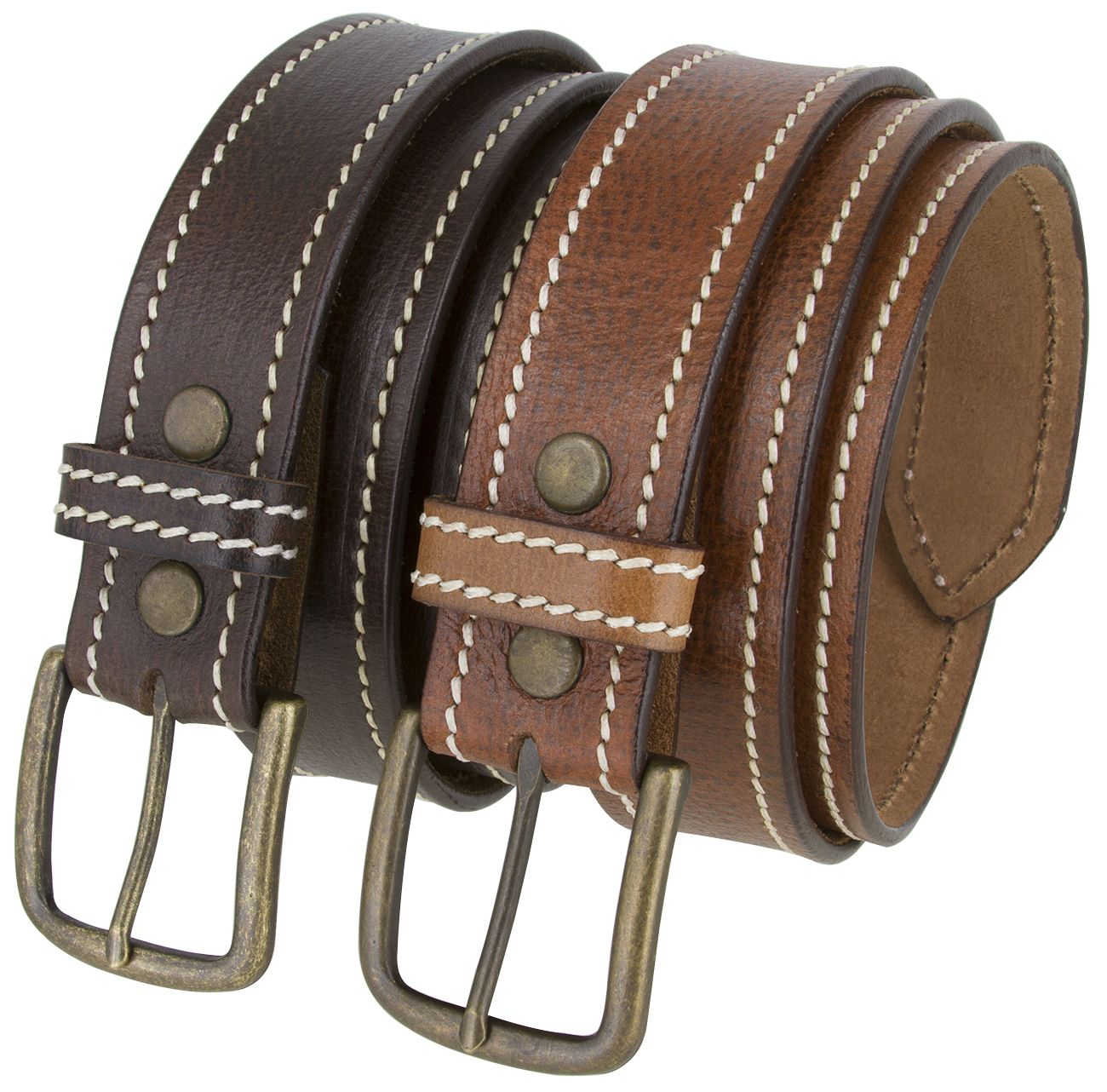 Mens Casual Genuine Suede Leather Belt 1 1//2 Wide Made in the USA