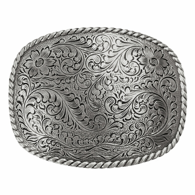 Western Engraved Rope Edge Design Belt Buckle HA0359 LASRP