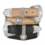 Mens Leather Western Belts