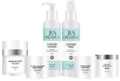 Blemished Acne Skin Care Set - 6 Piece Set with Free Gift
