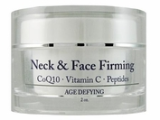 Peptide Neck & Face Firming Cream with Vitamin C, CoQ10, Glycolic & Squalane