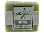 Natural Organic Handcrafted Refreshing Mint Scrub Soap Bar