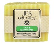 Natural Organic Handcrafted Sage Lemongrass Soap Bar