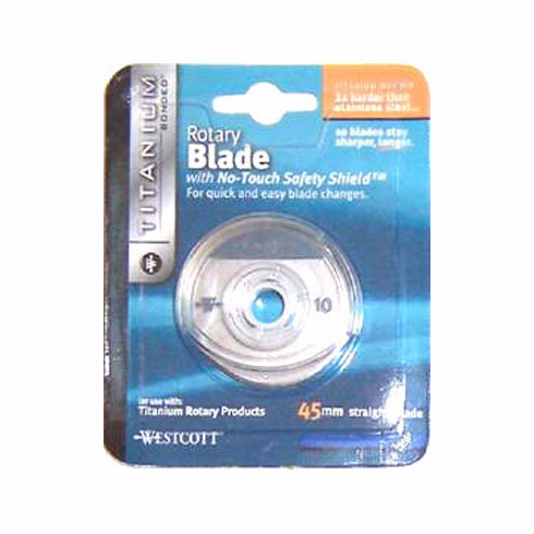 45mm Titanium Rotary Replacement Cutter Blade Straight