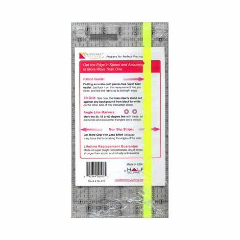 "6"" x 12"" Guidelines Ruler"