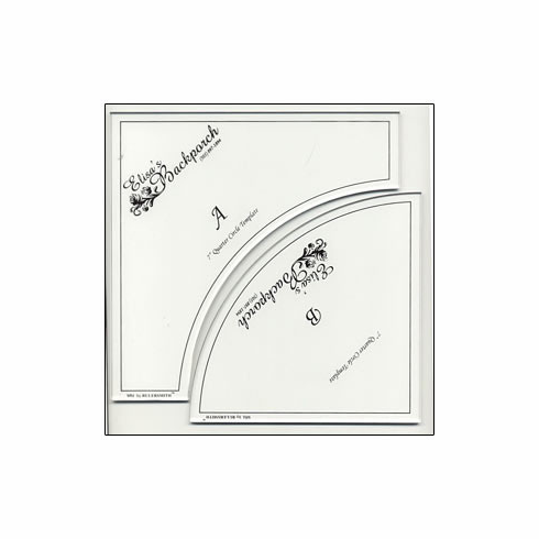 """7"""" Crazy Curves Drunkards Path Template with Built-In Seam Allowance"""