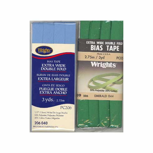 Bias Tape, Extra Wide Double Fold 13mm x 2.75m Emerald