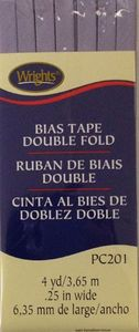 Bias Tape Packaged Double Fold 6mm Wide