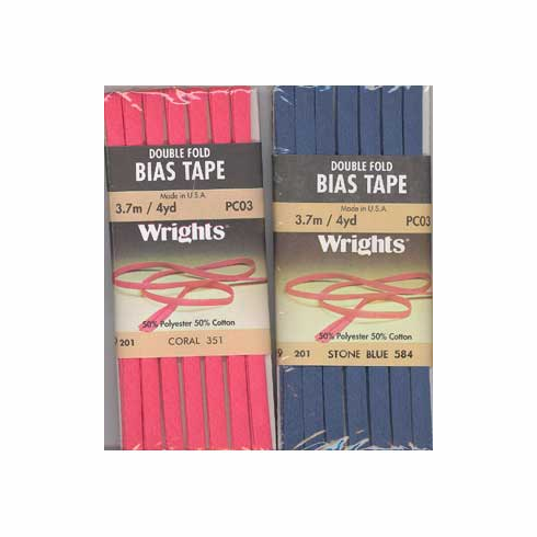 Bias Tape Packaged Single Fold 13mm x 3.7m Coral