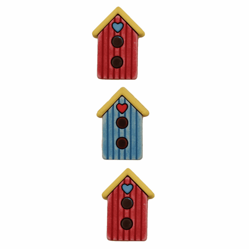 Birdhouses Buttons