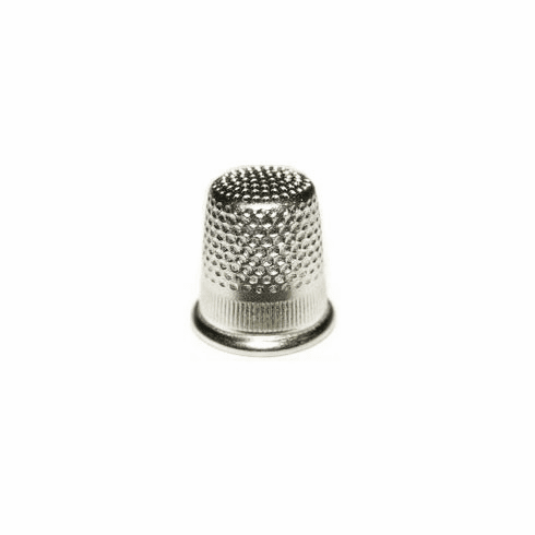 Bohin Brass/Nickel Round Top Thimble (Large), 18.2mm