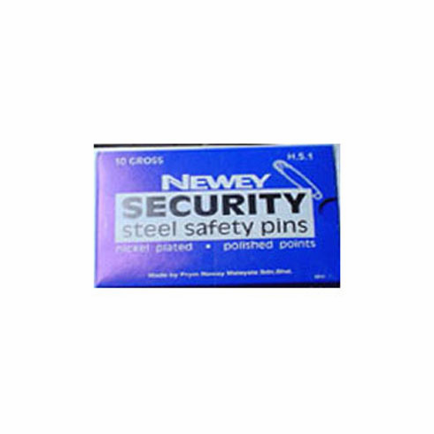 Bulk Security Steel Safety Pins 10 Gross Box Size 3