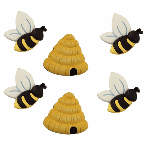 Busy Bees Buttons