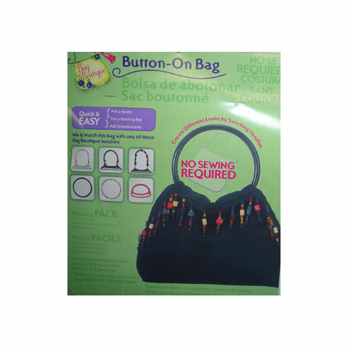 Button-On Bag Round Black