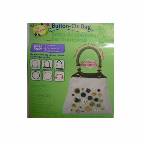 Button-On Bag Round Natural