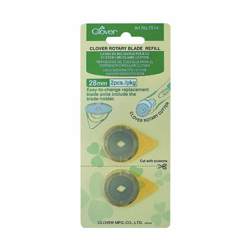 Clover Rotary 28mm Replacement Blade 2 Count