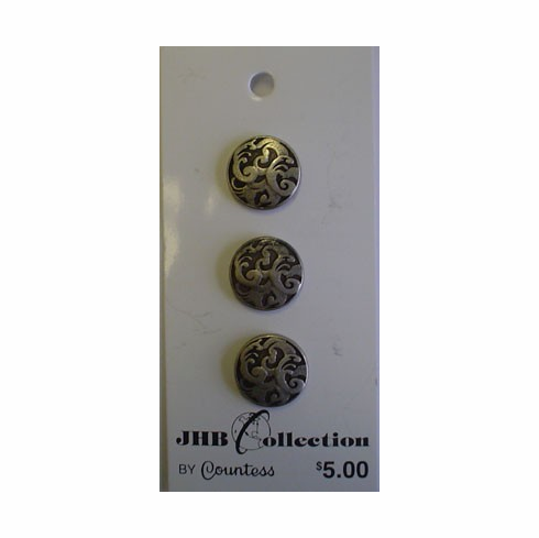 Countess Allure 16mm Silver Buttons