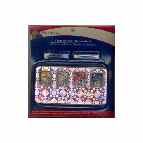 Directional Arrow Pins, Assorted 180 Count