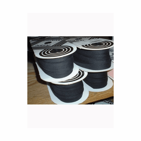 Double Fold Bias Tape 14mm wide by 50m long 001 Black