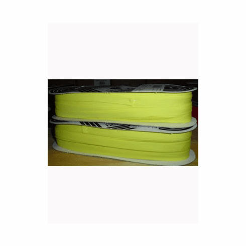 Double Fold Bias Tape 14mm wide by 50m long 105 Yellow