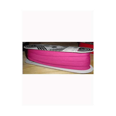 Double Fold Bias Tape 14mm wide by 50m long 235 Dark Pink