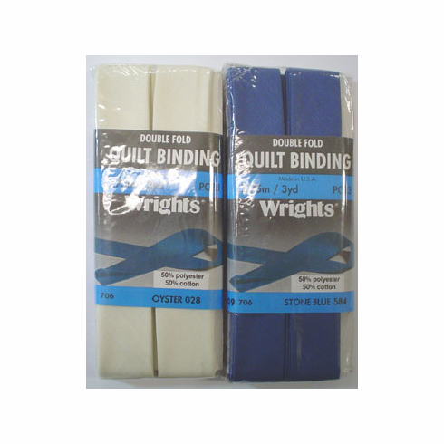 Double Fold Quilt Binding, 22mm x 2.75m Stone Blue