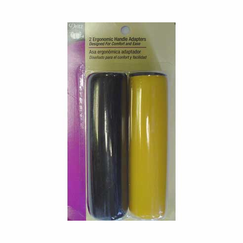 Ergonomic Handle Adapters, Yellow and Black, 2 count