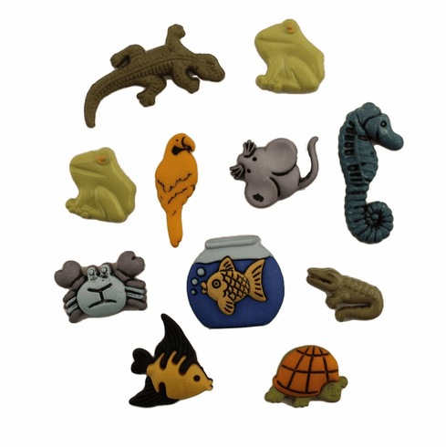 Exotic Pets Buttons