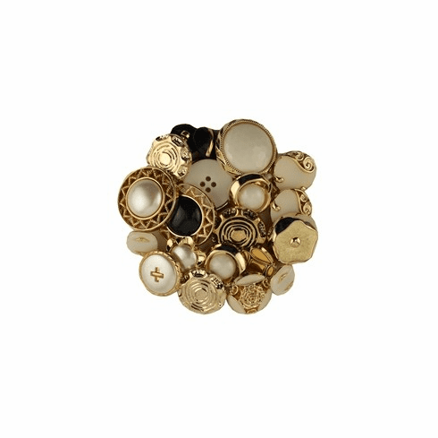 Fancy Gold & Silver Grab Bag Buttons