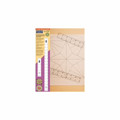 """Fast2mark Tools - 6"""" & 8"""" Quilter's Rulers"""