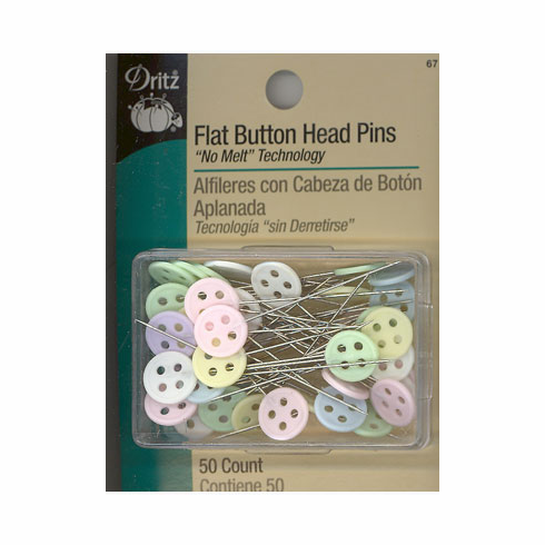 Flat Button Head Pins, 50 count