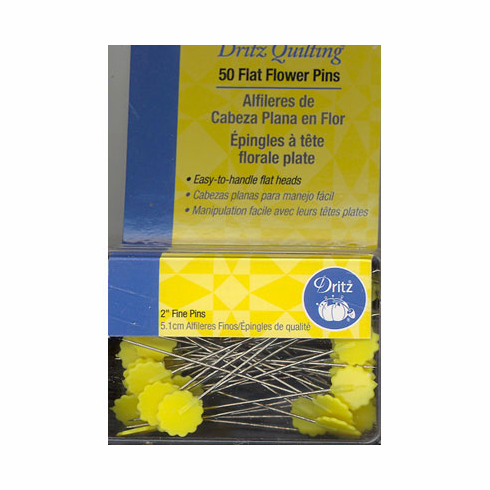 Flat Flower Head Pins, 50mm, 50 count