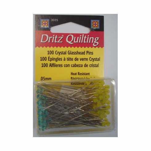 Glass Head Pins 0.05mm 100 count