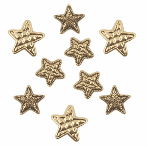 Gold Stars Buttons