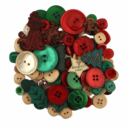 Grab Bag - Country Christmas Buttons