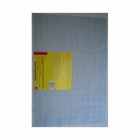 "Heavy Duty Gridded Template Plastic, 12"" X 18"""