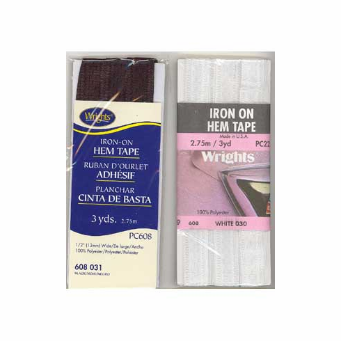 Iron-On Hem Tape 2.75m Long White