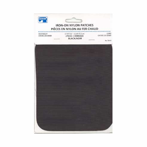 Iron-on Nylon Patches, Black