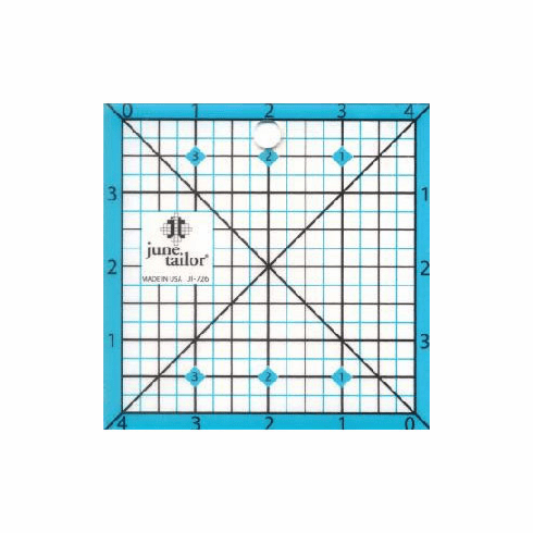 "June Tailor 4.5"" Square Quilting Ruler"