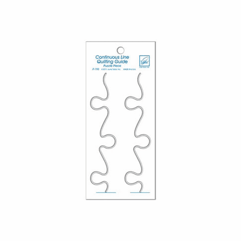 """June Tailor Continuous Line Quilting Guide 3.5"""" x 8"""" Small Puzzle Pieces"""