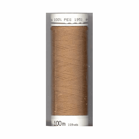 Mettler Metrosene Polyester Thread, 100m, Color #0287 Dark Tan